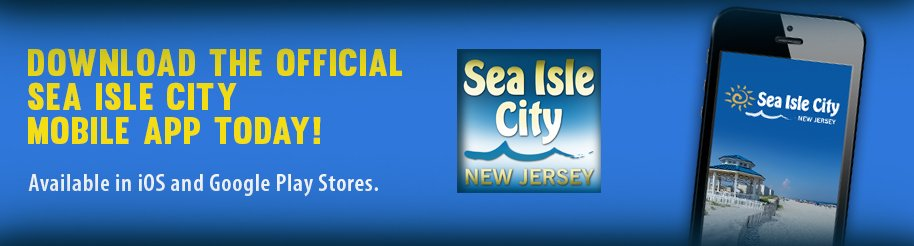 Download the Official Sea Isle City Mobile App Today!